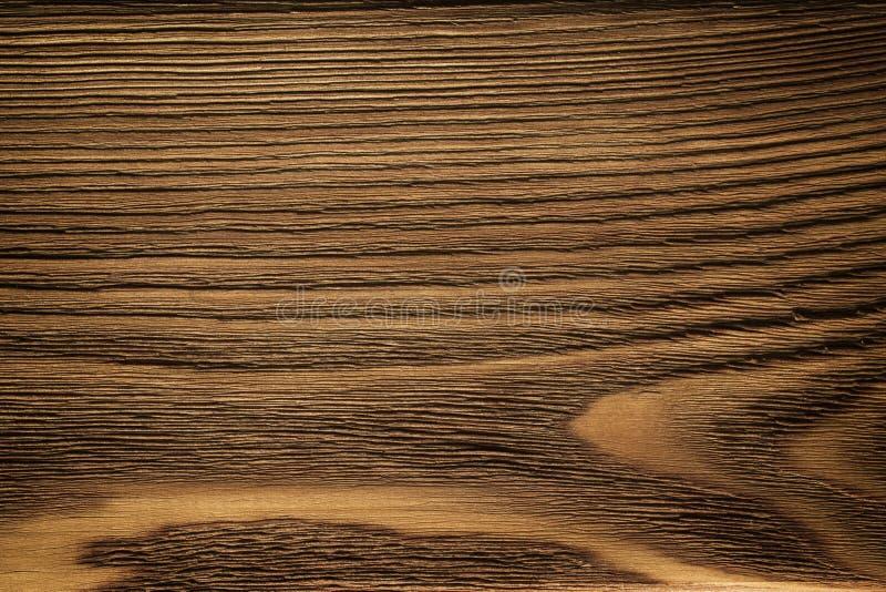 Drewniana deska, ciemnego brązu deska, rocznika tło fotografia stock