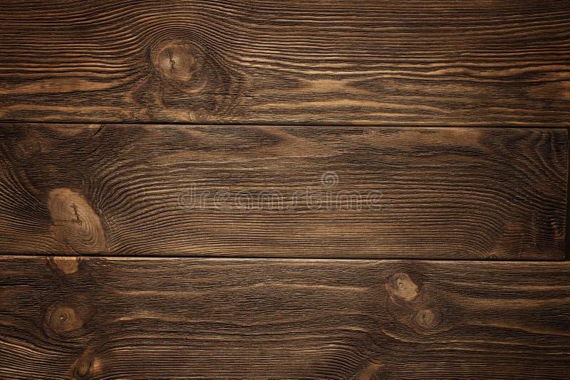 Drewniana deska, ciemnego brązu deska, rocznika tło zdjęcie royalty free