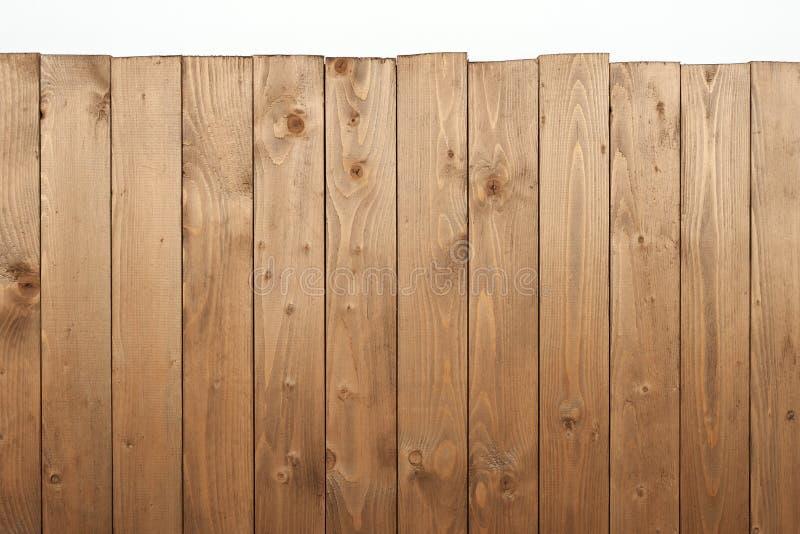Drewniana deska dla tła lub tekstura na bielu zdjęcia royalty free