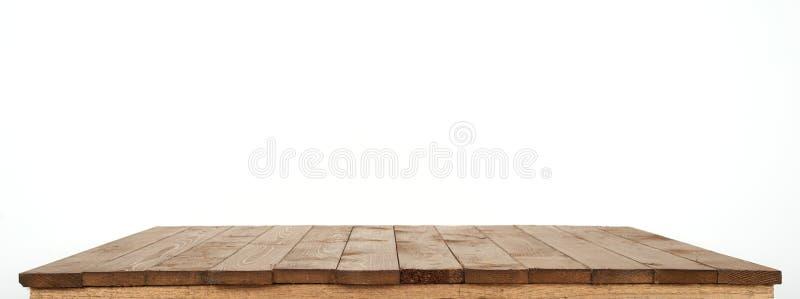 Drewniana deska dla tła lub tekstura odizolowywająca na bielu obraz royalty free