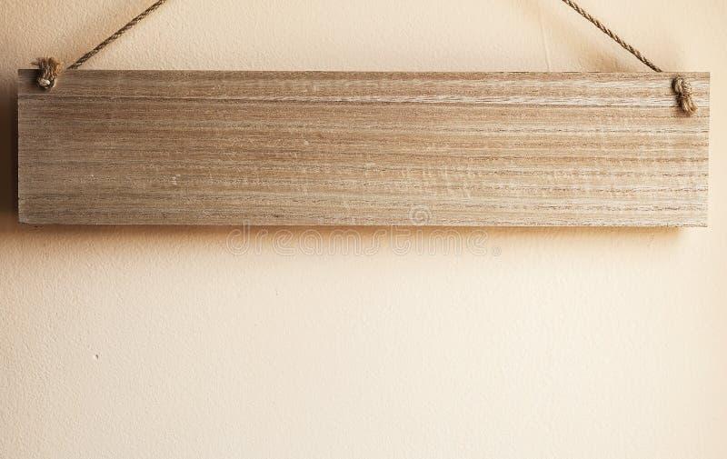 Drewniana deska Na arkanach obrazy royalty free
