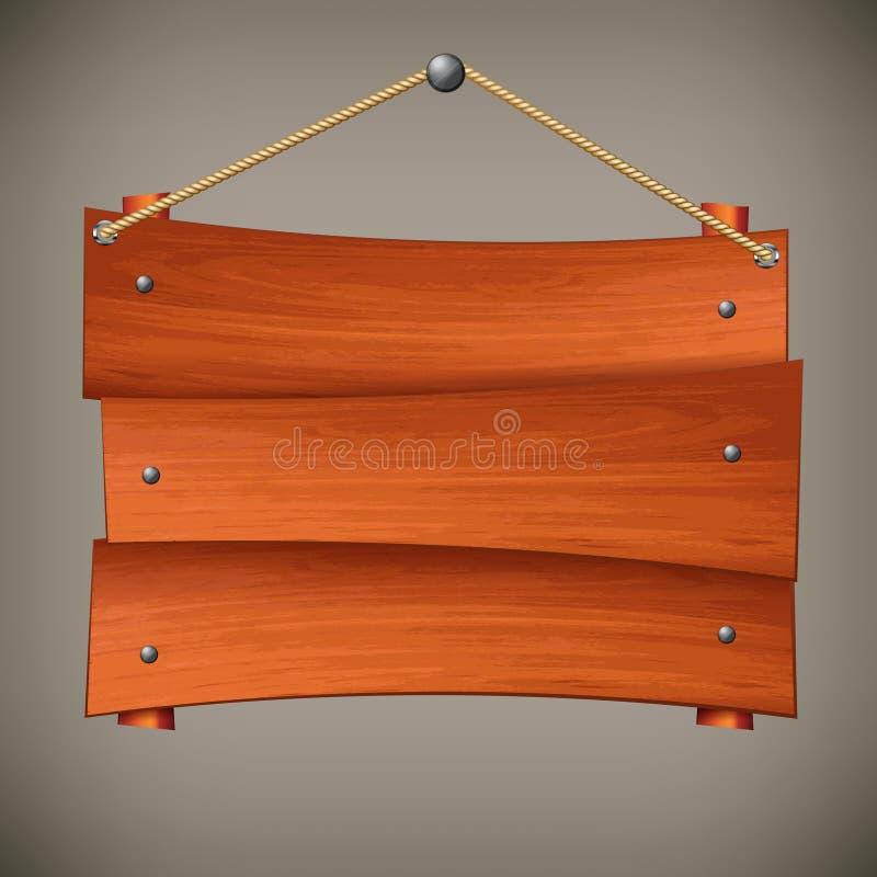 Drewniana deska na arkanie ilustracji