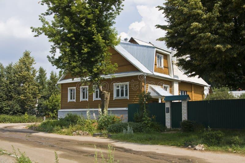 drewniana domowa wioska fotografia stock
