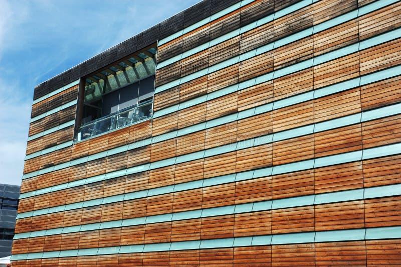 drewniana fasada budynku obraz royalty free