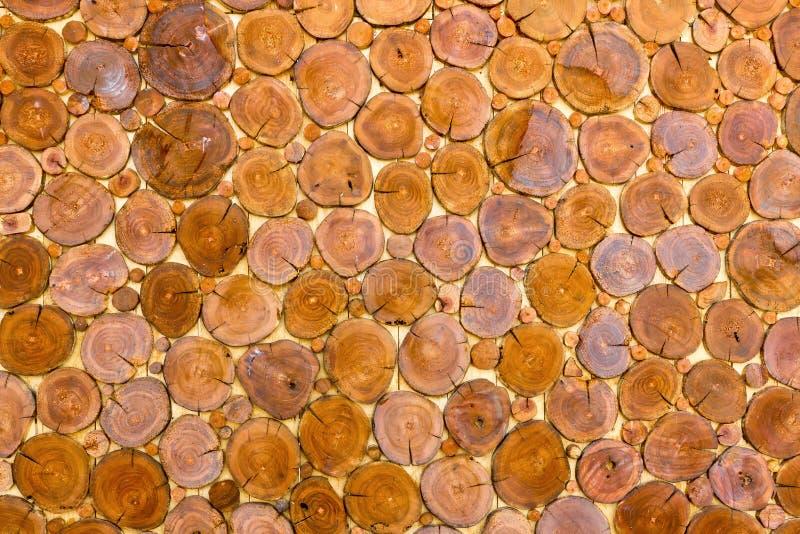 Drewniana fiszorek ściana obrazy stock