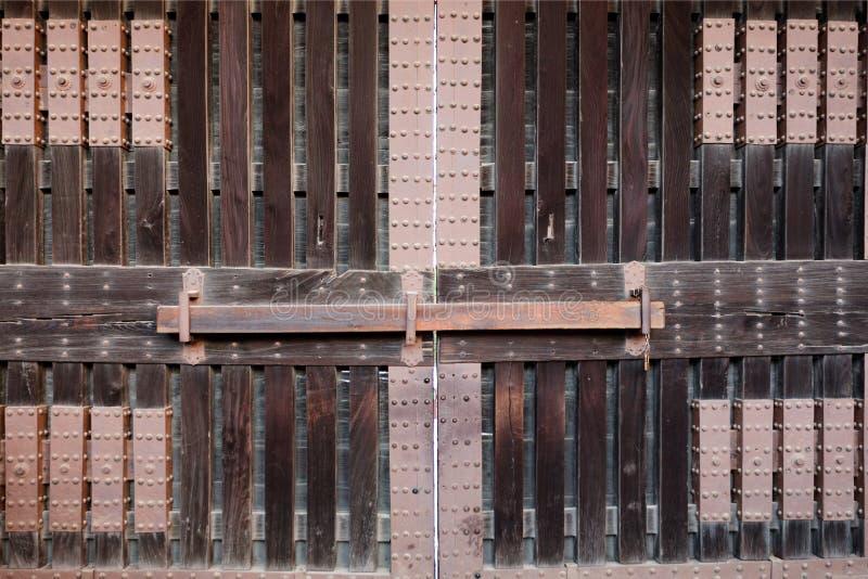 drewniana grodowa brama zdjęcia royalty free