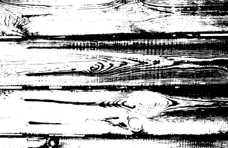 Drewniana grunge tekstura Naturalny drewniany odosobniony tło również zwrócić corel ilustracji wektora royalty ilustracja