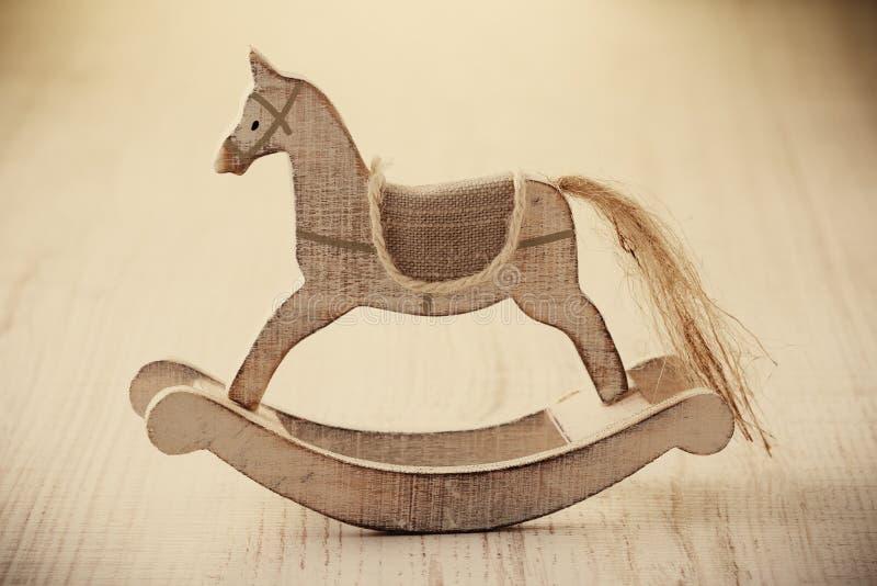 Drewniana koń zabawka obraz royalty free