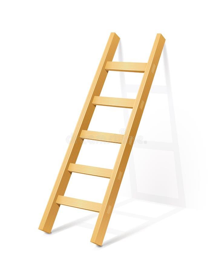 Drewniana krok drabina ilustracji