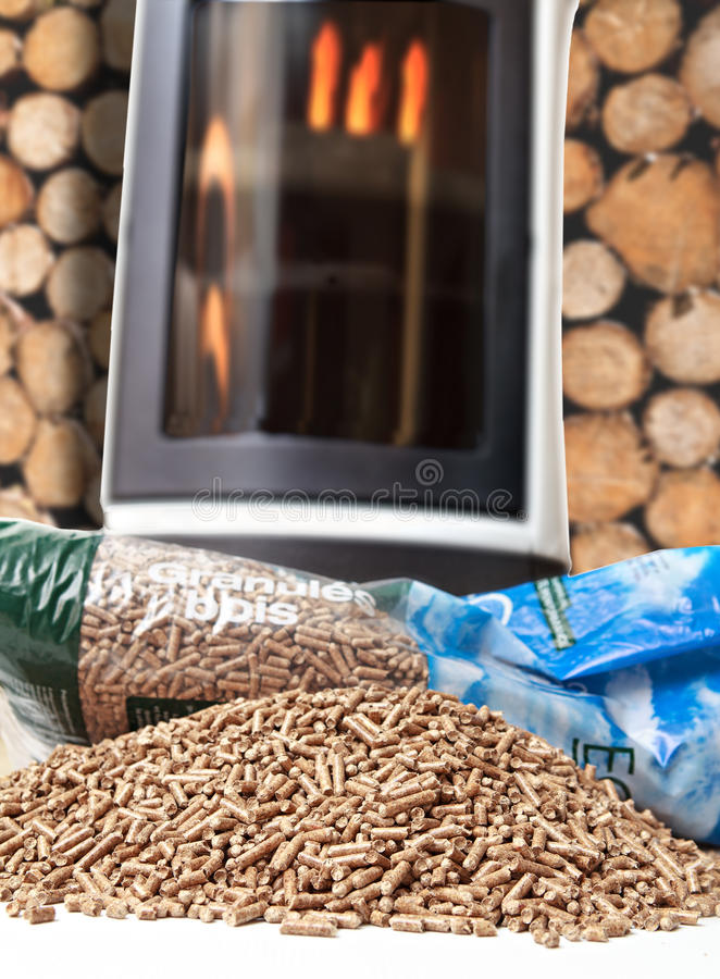 Drewniana kuchenka fotografia stock