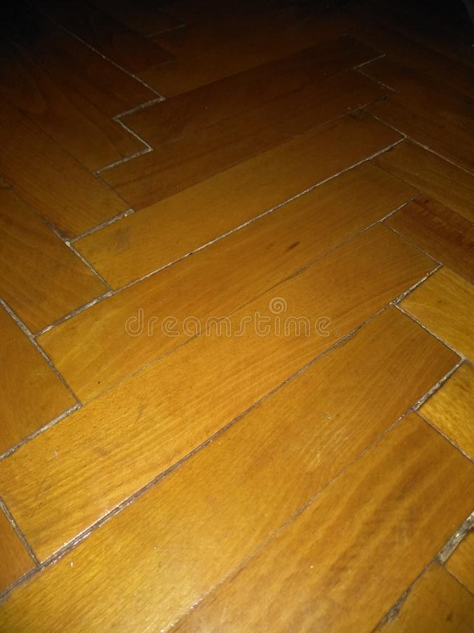 Drewniana lacquered podłoga na podłoga obrazy royalty free