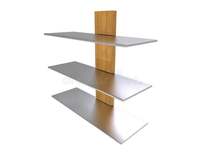 Drewniana metal półka ilustracji