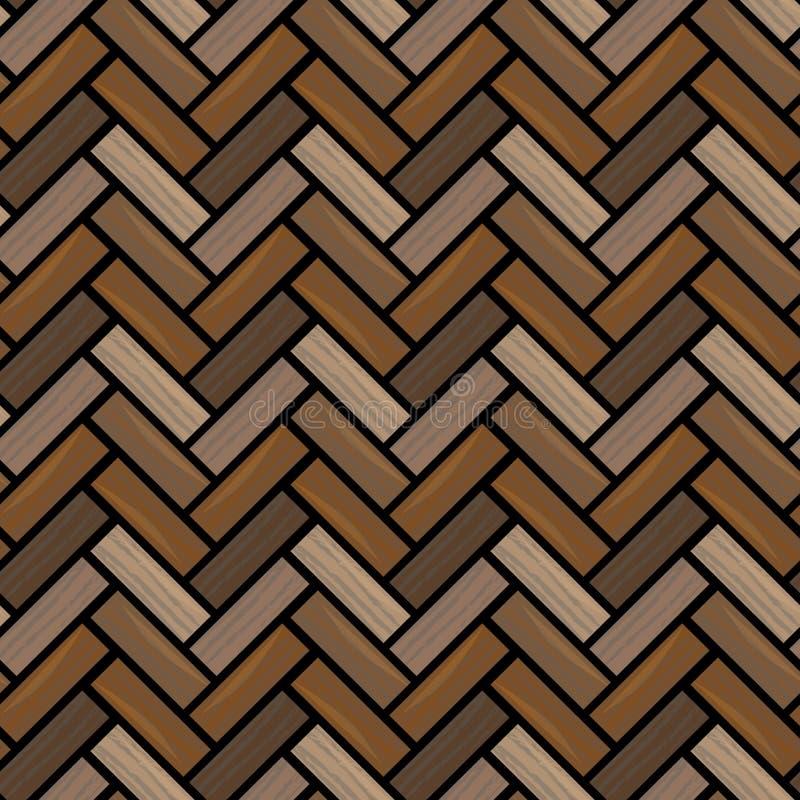 drewniana naturalna parkietowa tekstura Bezszwowy wzór EPS10 ilustracji