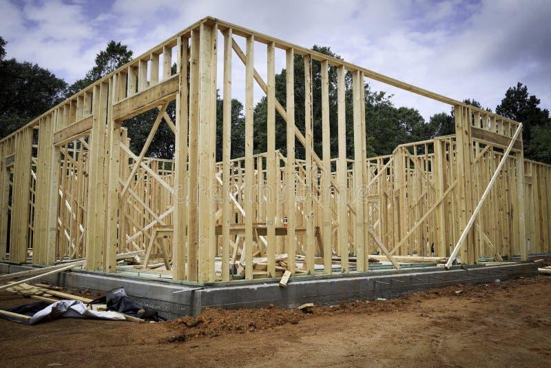 Drewniana Nowa Domowa otoczka zdjęcie royalty free