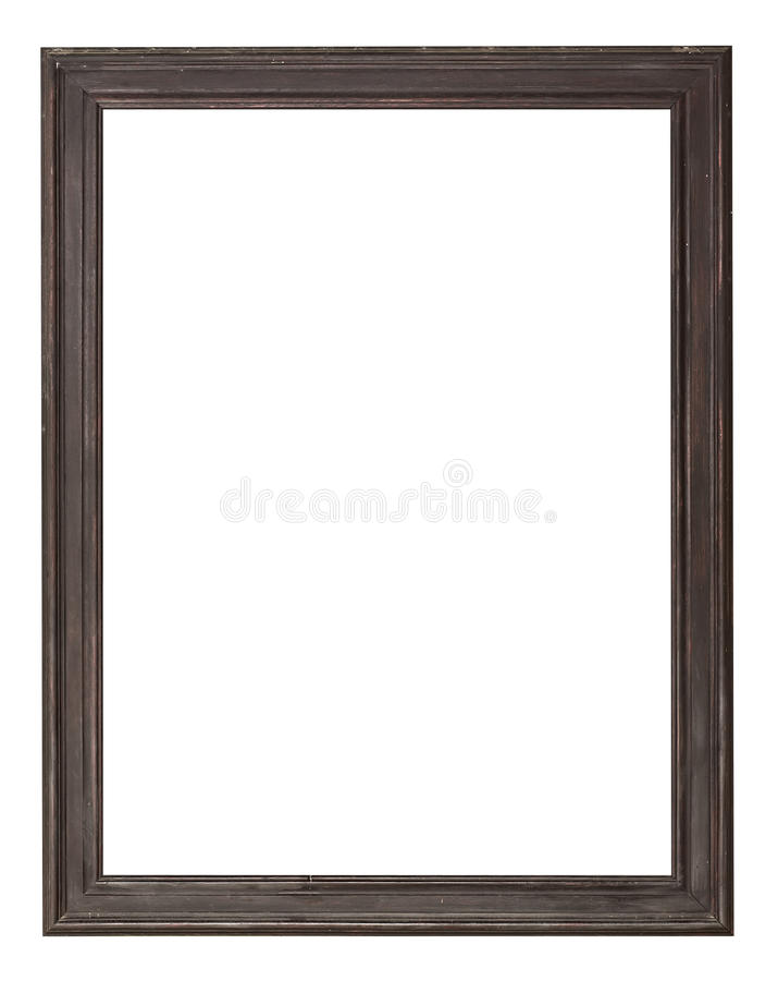 Drewniana obrazek rama obraz stock
