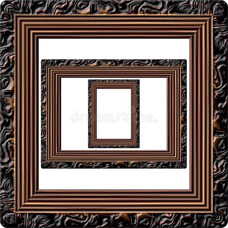 Drewniana obrazek ramy wytwarzająca tekstura ilustracji
