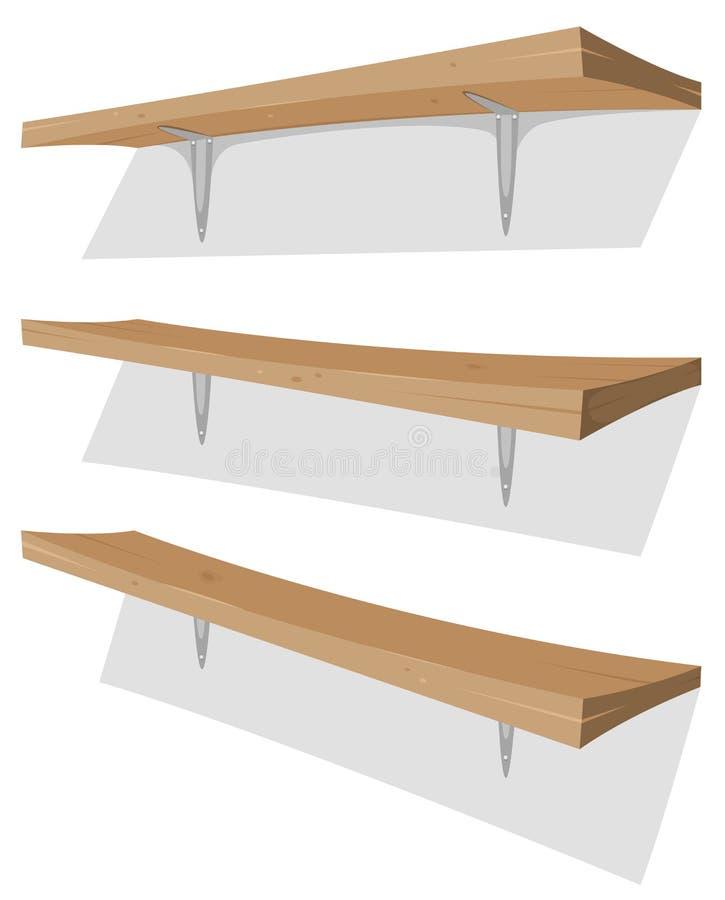 Drewniana półka Na ścianie ilustracji