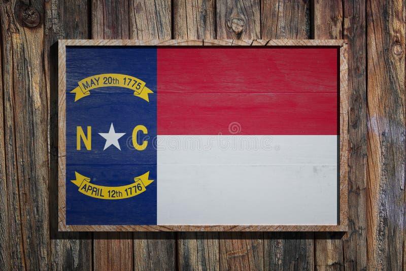 Drewniana Pólnocna Karolina flaga royalty ilustracja