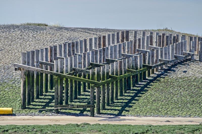 Drewniana palowa budowa obraz stock