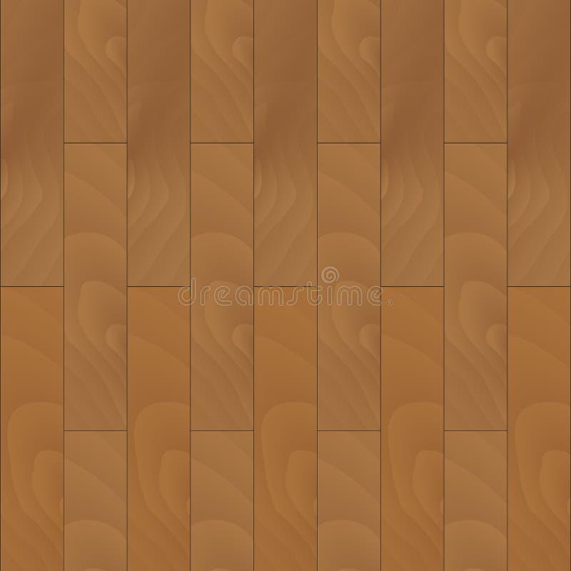 Drewniana parkietowa bezszwowa tekstura royalty ilustracja