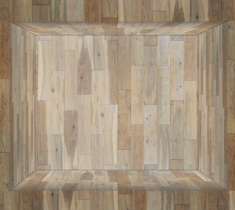 Drewniana platforma i drewniana ściana zdjęcia stock