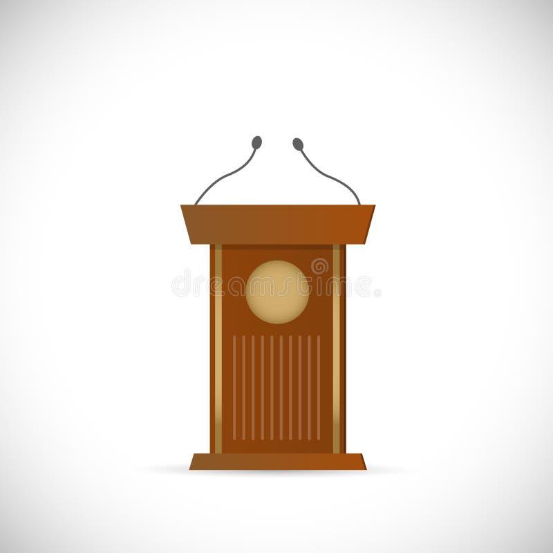 Drewniana podium ilustracja royalty ilustracja
