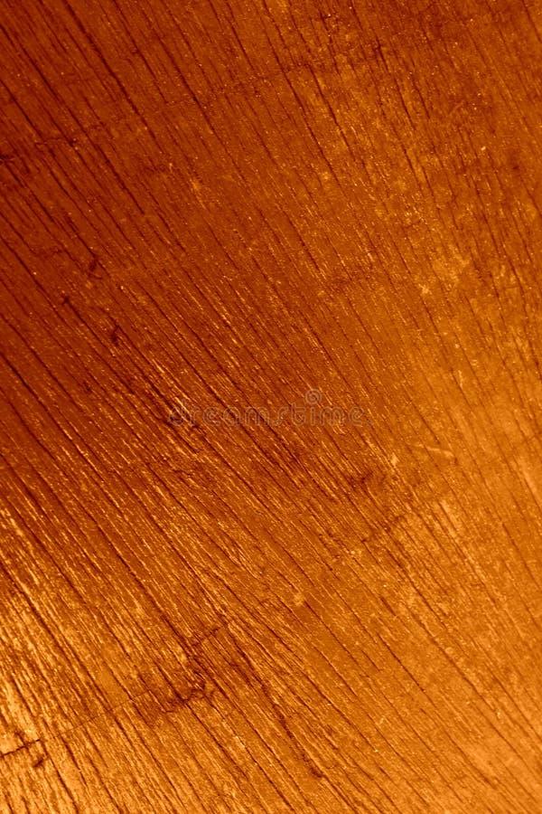 Drewniana powierzchnia, malujący złocisty miodowy kolor Nafciana farba fotografia stock