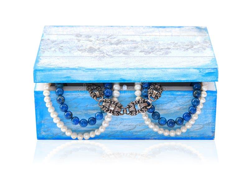 drewniana pudełkowata biżuteria fotografia stock