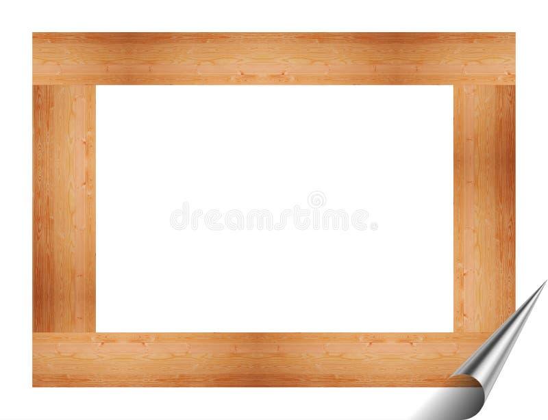 Drewniana rama dla obrazków i obrazów ilustracja wektor