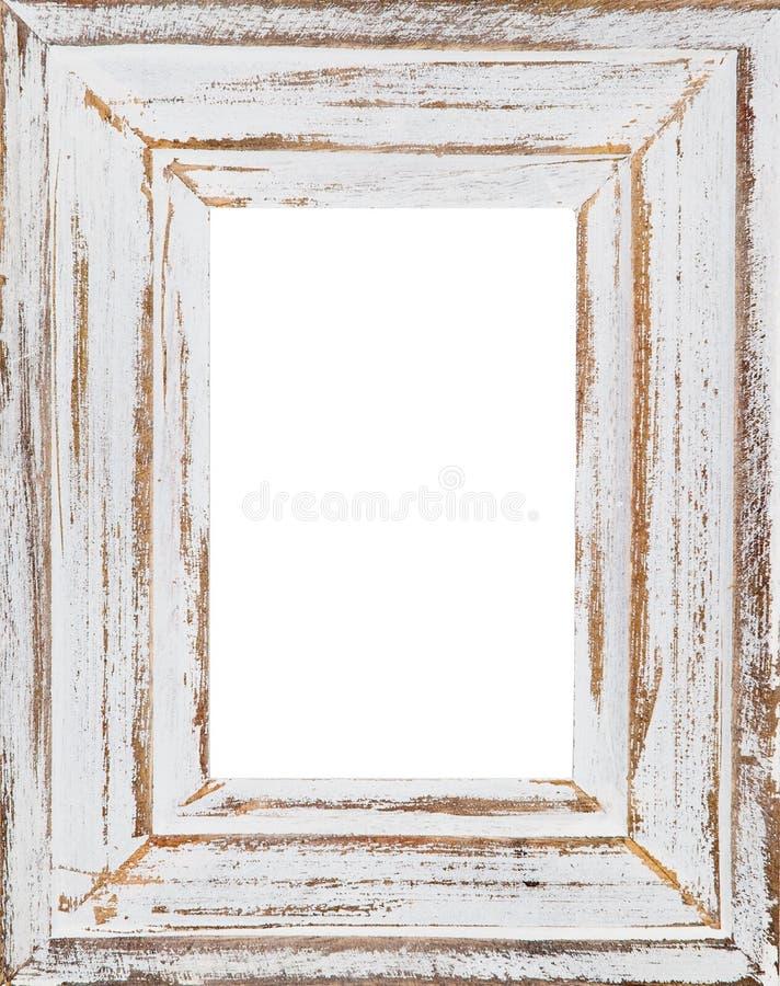Drewniana rama (Odosobniony wewnętrzny) zdjęcia stock
