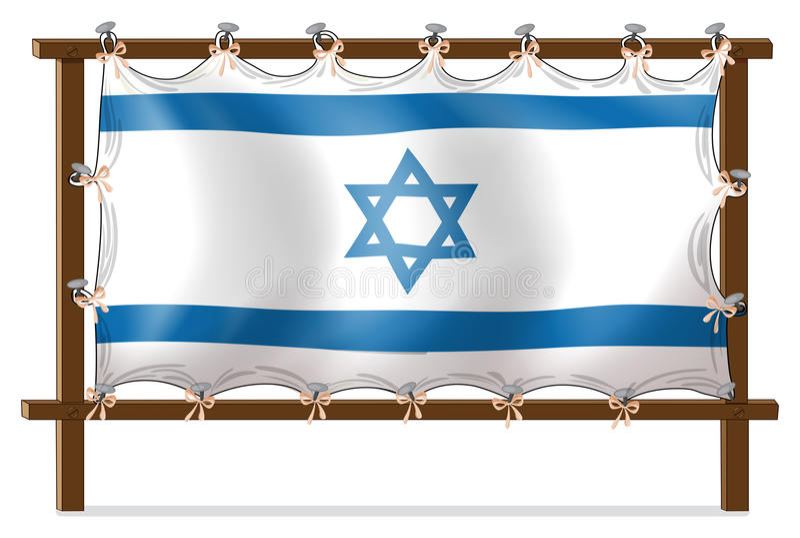 Drewniana rama z Izrael flaga royalty ilustracja
