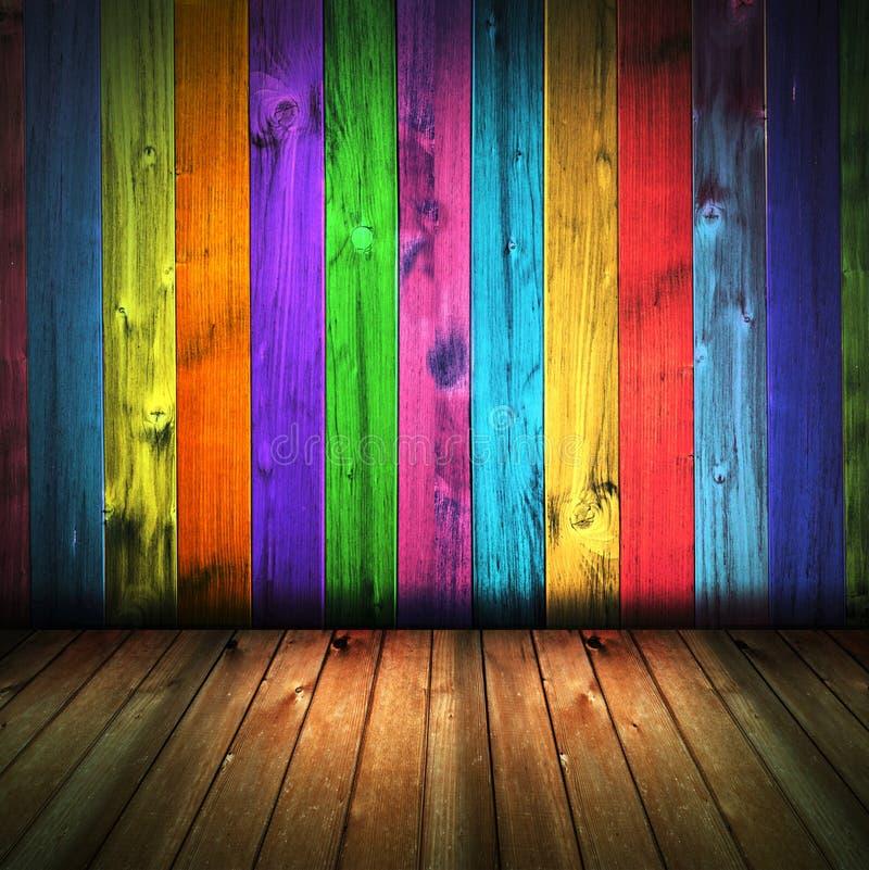 drewniana rocznik kolorowa domowa wewnętrzna ściana ilustracja wektor