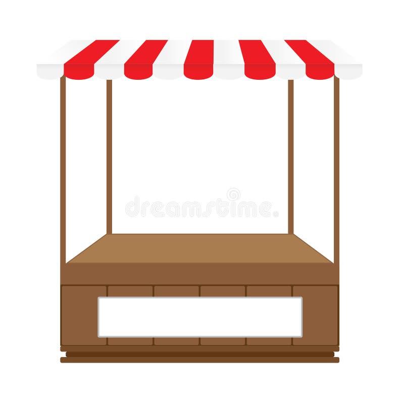 Drewniana rynku kramu ikona ilustracja wektor