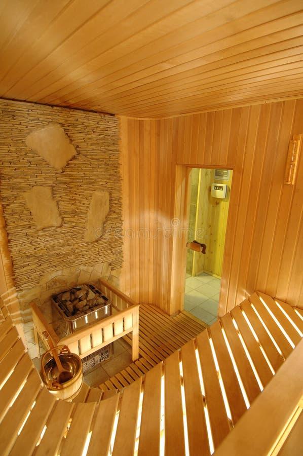 Drewniana sauna kabina fotografia stock