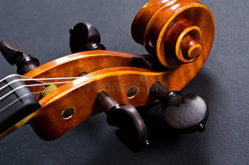 Drewniana skrzypce głowa zdjęcia royalty free
