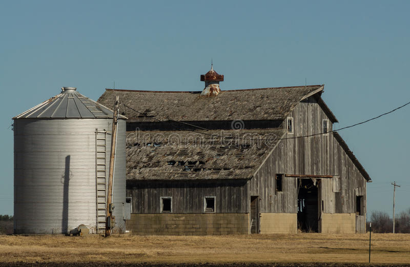 Drewniana stajnia i silos obrazy royalty free