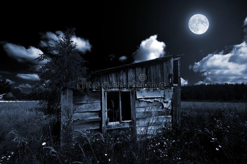 drewniana stara blask księżyca jata zdjęcia royalty free