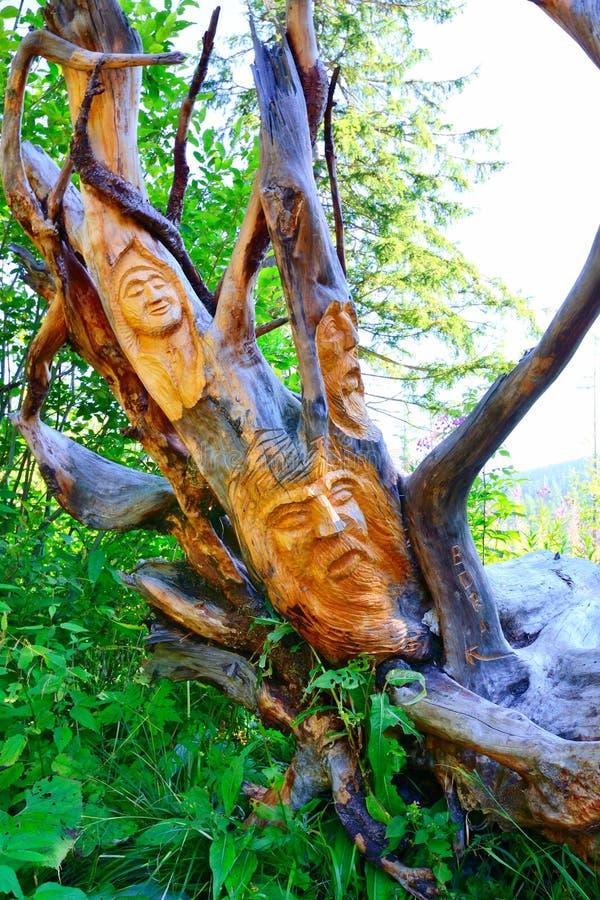 Drewniana statua obraz stock