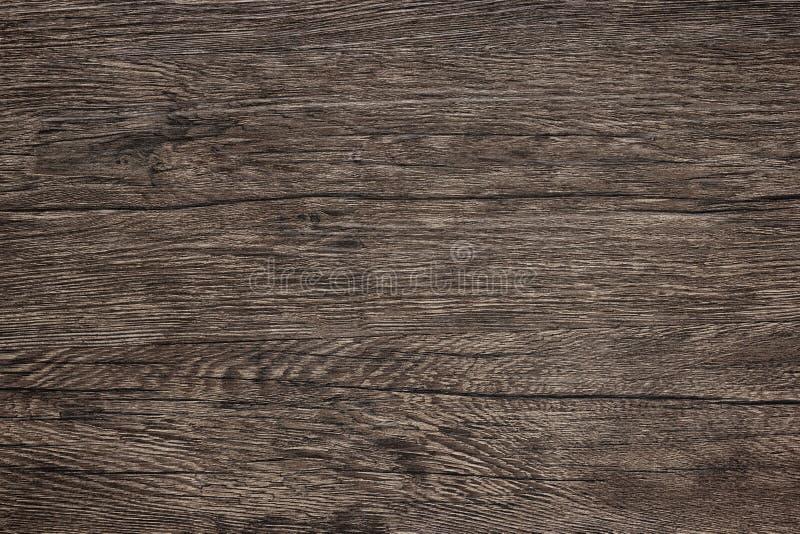 Drewniana stołowa tekstura - ciemnego brązu drewna tło fotografia royalty free
