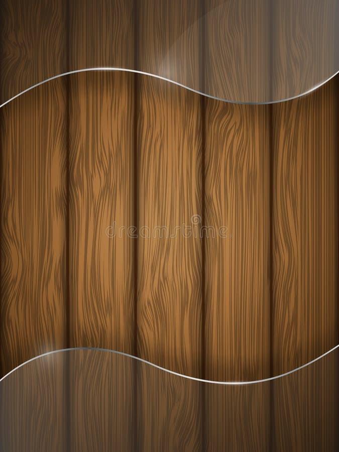drewniana szklana tekstura royalty ilustracja