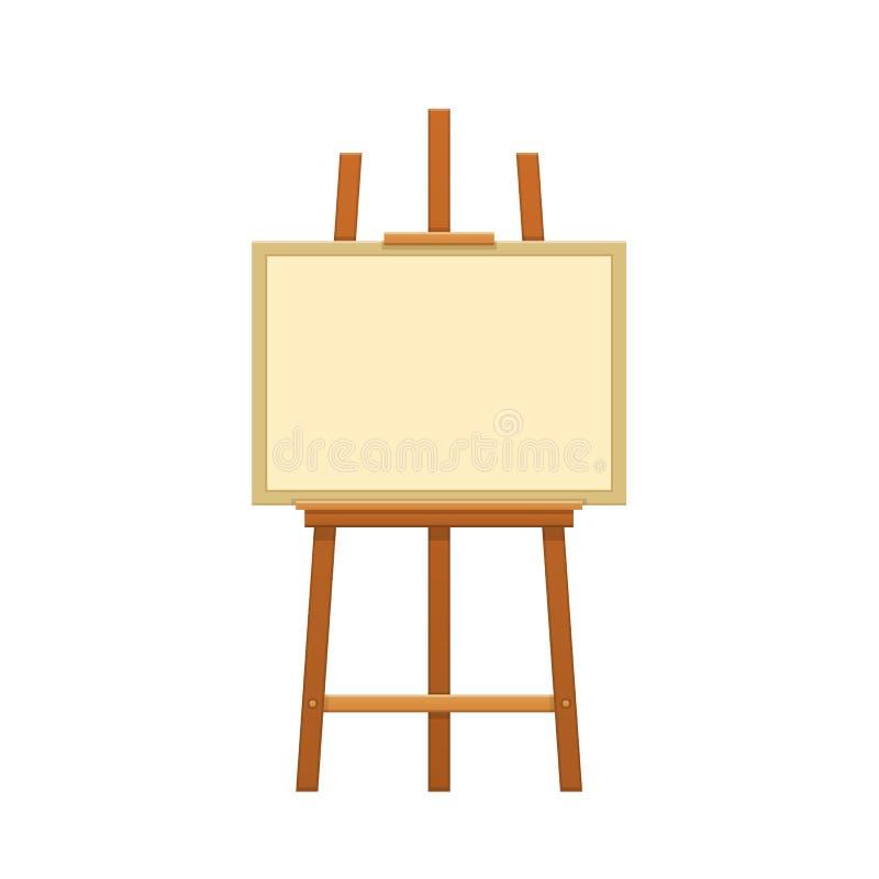 Drewniana sztaluga z kanwą dla malować obrazy Hobby, kreatywnie praca ilustracji