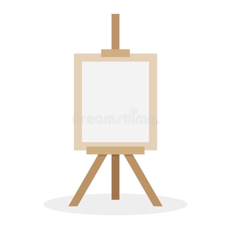 Drewniana sztaluga z pustą przestrzenią ilustracji