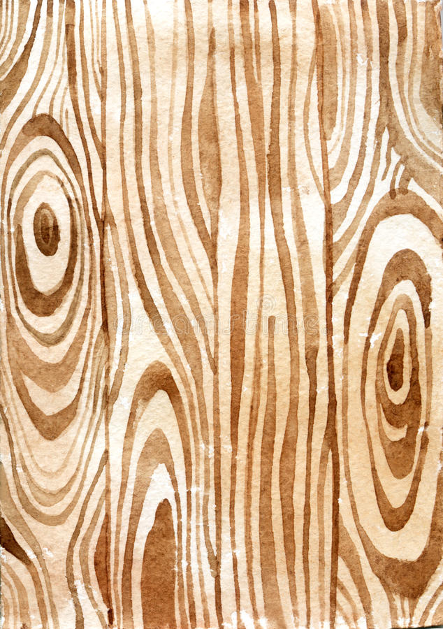 Drewniana tekstura akwarela ilustracja wektor