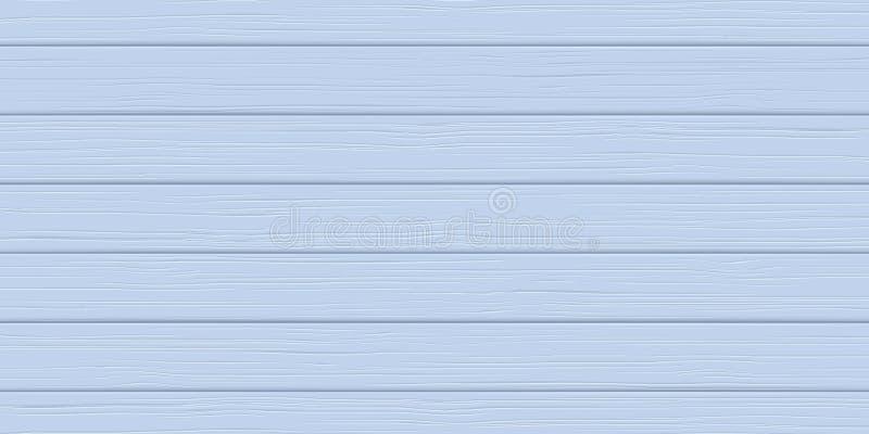 Drewniana tekstura, błękitna deska Drewniany tło ilustracja wektor