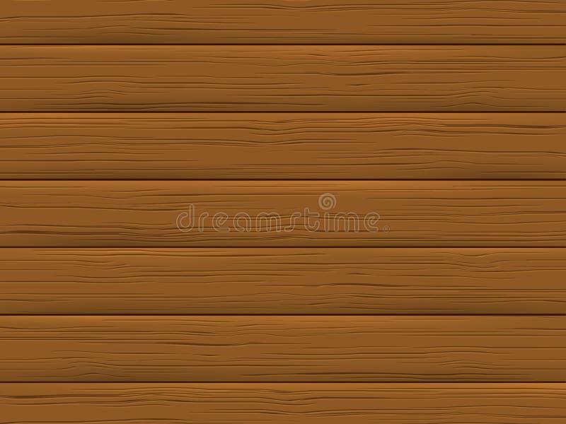 Drewniana tekstura, brąz deska Drewniany tło ilustracji