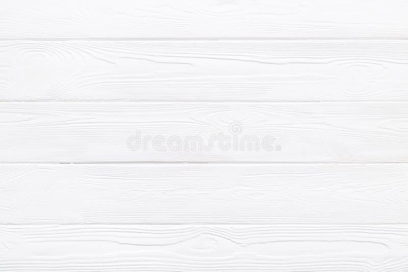 Drewniana tekstura lub tło białej sosny deski stół fotografia royalty free