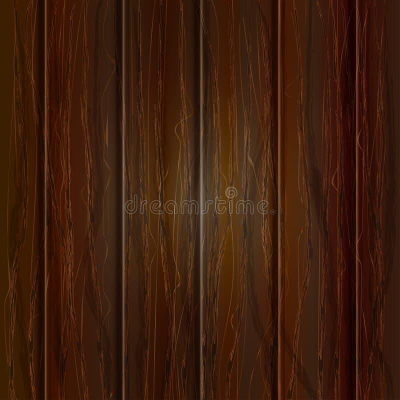 Drewniana tekstura, wektorowa ilustracja tła drewniany ciemny naturalny ilustracji