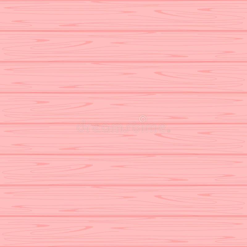 Drewniana tekstury miękkiej części menchia barwi pastel dla tła, drewnianych tło menchii kolorów pastelowa miękka część royalty ilustracja