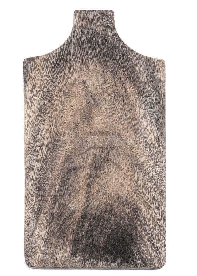 Drewniana tnąca deska odizolowywająca na białym tle z teksturą zdjęcie stock