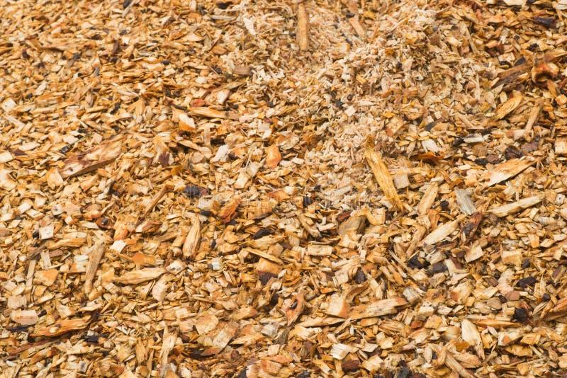 Drewniana trocinowa sterta zdjęcia stock
